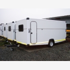 Mobile Empty Caravan Unit - Medium - Side Door 1